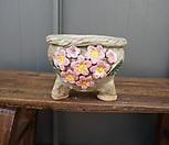 꽃叶子手工花盆3(粉色)_Handmade 'Flower pot'