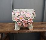 꽃叶子手工花盆4(粉色)_Handmade 'Flower pot'