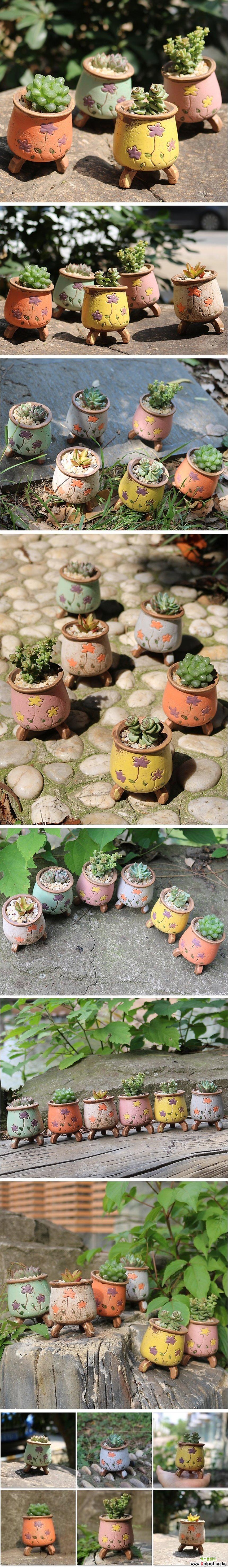 [페어리/팬지] 다육이화분 인테리어화분 수제화분 행복상회 행복한꽃그릇