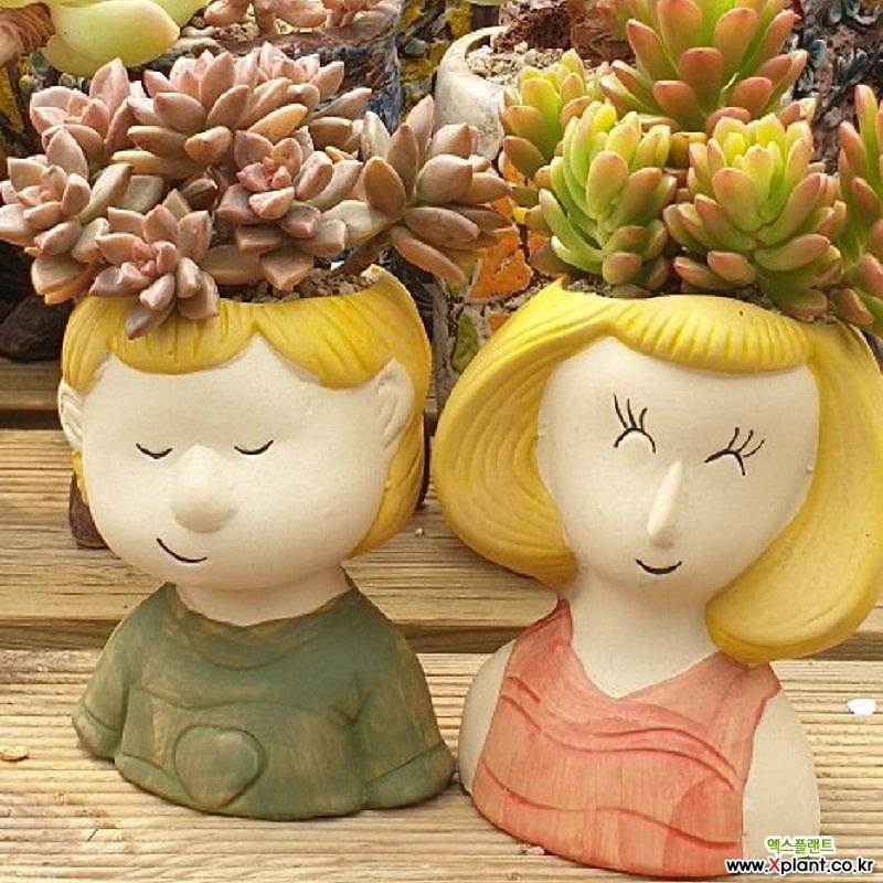 어깨동무 수제화분 다육화분 인테리어화분 다육이화분 행복상회 행복한꽃그릇