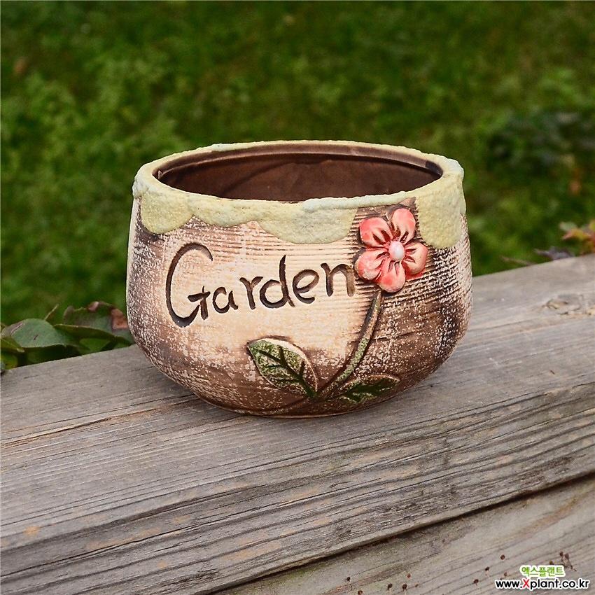 정원에핀꽃 다육이수제꽃분 수제화분 인테리어화분 수제꽃분