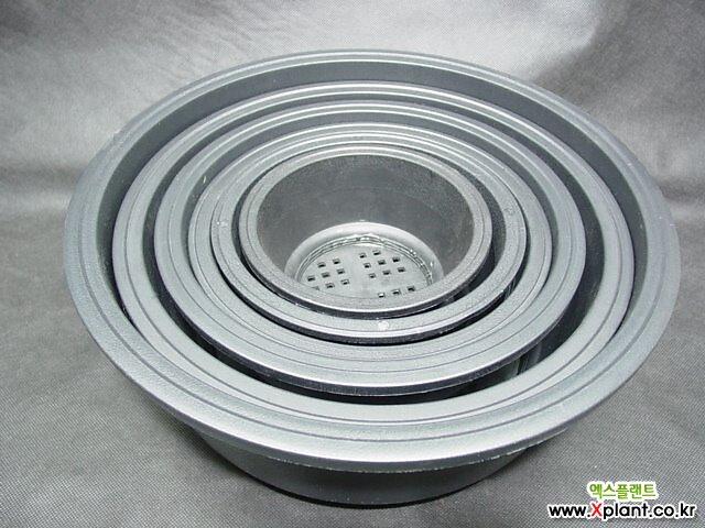 원형 프라스틱 화분-플분-분재분-다육분-소재분-7속 낮은분