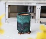 소형 클래식 원기둥(에메랄드) - 최고급 수제 화분  예쁜화분 다육화분 베란다화분 개업화분 특이한화분 선물화분 토어도예-TS-원형