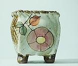 [그리닝홈] 10cm 사각꽃그림분 k109 랜덤