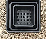 낮은사각분2호(플라스틱화분 정사각3종)9.5×9.5×7.5