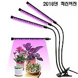 [다육이 실내재배 필수품]타이머내장 5단계 밝기조정,색상선택점등 식물생장 LED 3-헤드 올인원 타입,다육이 실내재배 필수품,식물생장 LED,다육이등 식물생장등
