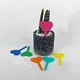 플라스틱 하트 식물 이름표 화분 네임텍