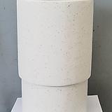 테라조 화이트 원형시멘트 화분|