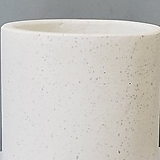 테라조 화이트 하프원형화분|