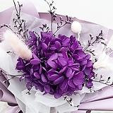 꽃파는농부 - 프리저브드 플라워 미니꽃다발(수국/퍼플)|