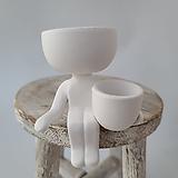 수입화분 세라믹 사람모양 미니화분(흰색)|