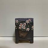 꽃 바구니 장식 - 퍼플|