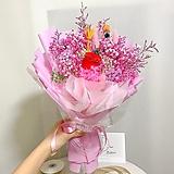 프리저버드 꽃다발 핑크혼합L|