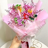 프리저브드 꽃다발 핑크혼합M|