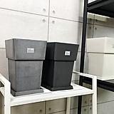 카멜레온 네츄럴 모던 클래식 중형 플라스틱 사각 화분 