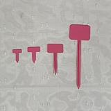 플라스틱 직사각 T자 이름표 - 분홍색|
