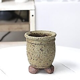 소소형 빈티지 오징어-2(카키) -3000  수제화분 다육화분 바위솔화분 수채화화분 예술적인화분 예쁜화분 다육화분 베란다화분 개업화분 선물화분 작가도예-YSS-원형 인아트스튜디오|