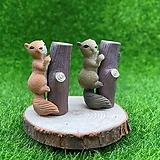 통나무 다람쥐 (화분데코) 