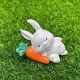당근 베고 자는 토끼 (화분데코) 