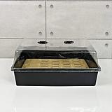 대형 유광 저면관수 상자 삽목 플라스틱 화분 온실커버 세트|