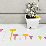 직사각 원예용 식물 이름표 플라스틱 팻찰|
