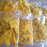 707 노란사각이름표 2호 (10+1)..1봉지100개 |