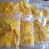 715.노란사각이름표 3호..(1봉지100개)랜덤 |