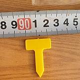718 노란사각이름표 2호 (10봉지구입시 1봉지드림)1봉지100개 |