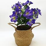 보라색엔화이트색 조화-명절 성묘용 꽃다발|