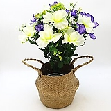 보라색엔연보라색+화이트색 조화-명절 성묘용 꽃다발 2개 묶음|