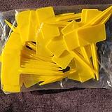 사각이름표(노랑색) (4호네임텍 1봉지 30개입)|