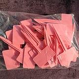 사각이름표(핑크색) (4호네임텍 1봉지 30개입)|