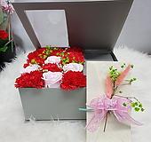 카네이션비누꽃  1 그레이 용돈박스 어버이날 스승의날선물용 
