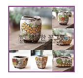 사이즈업꼬망세Ⅱ시즌/하양이다육화분 수제화분 인테리어화분 다육이화분 행복상회 행복한꽃그릇 DD꼬망|Handmade Flower pot