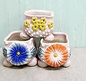 다육화분 수제화분 잎꽃이용 콩분 3개|