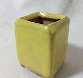 중고) 노란컬러 추부분 사각분 중소형분|